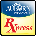 This graphic shows the The AuBurn Pharmacy RXpress App