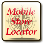 This graphic displays the The Baldwin City Mobile Store Locator. It contains a link that will show you where the AuBurn pharmacy is.