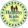 This graphic shows AuBurn Pharmacy Healthy Kids Free Vitamin Program logo.