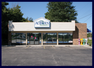 Pictured is rock The AuBurn Pharmacy in Louisburg Kansas.