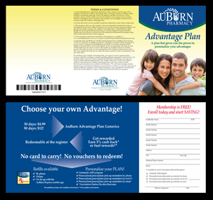 This graphic displays our AuBurn Pharmacy, Advantage Plan Brochure.