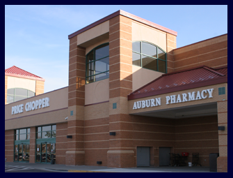 Pictures is the brick The Leawood Kansas Price Chopper and AuBurn Pharmacy.