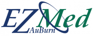 This graphic shows the AuBurn E Z Med Logo.