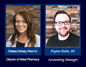 Chelsea Doherty, PharmD is the Director of Retail Pharmacy and Tiffany Watkins, MBA is the Account Manager